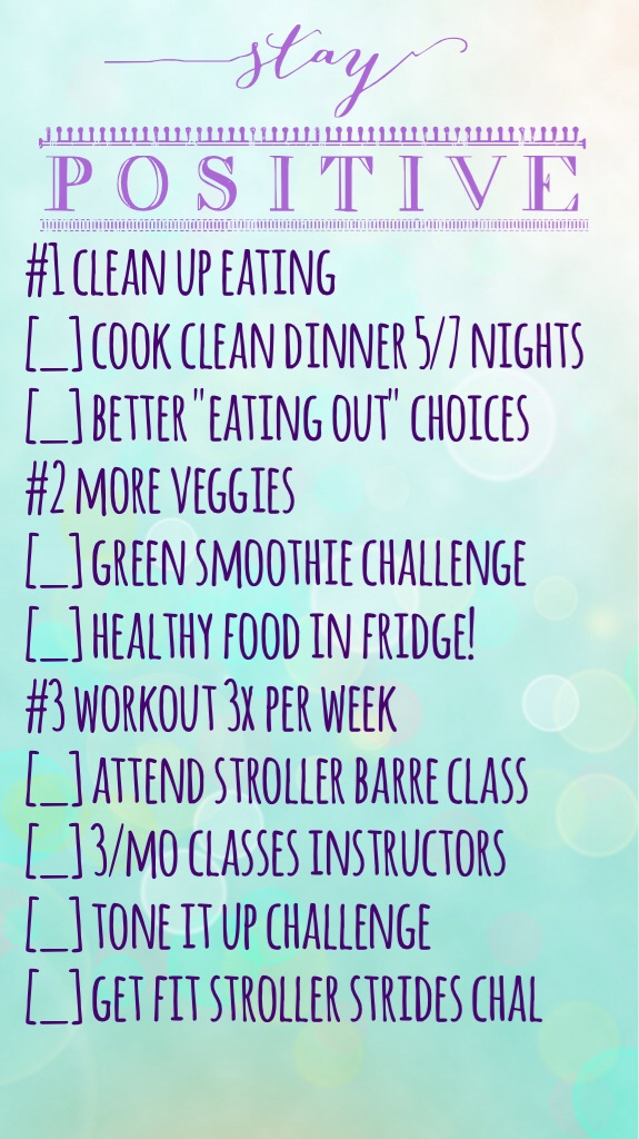 Health Goals Check In